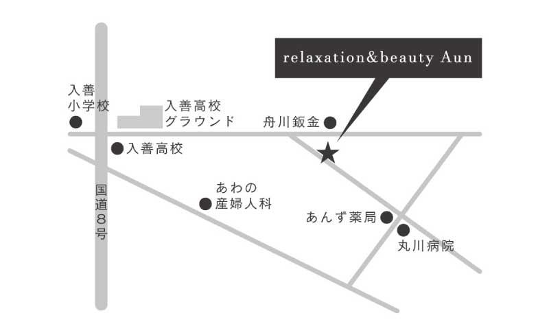 Aunの周辺地図